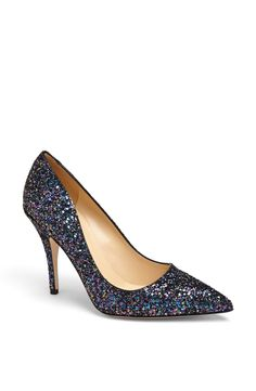 Obsessed with these multi-color glitter pumps! Will wear them to every party.