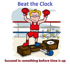 """English Idioms - Beat The Clock. Example sentence: """"Burcu beat the clock and booked a Kaplan English course before prices increased! Learn English Words, English Phrases, English Study, English Lessons, English Teaching Resources, English Activities, Language Study, English Language, English Grammar"""