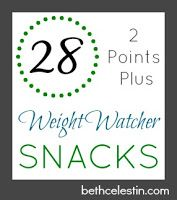 A list of 28 delicious {2 Points Plus} Weight Watcher Snacks!