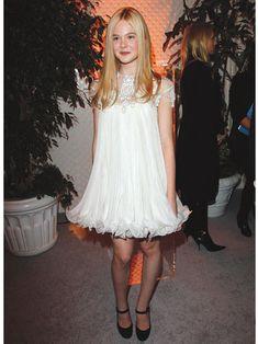 Elle Fanning in a Marchesa dress.