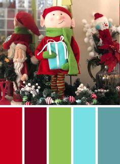 Colorful Christmas Colors Palettes