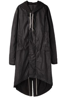 Rick Owens DRKSHDW Waxed Cotton Hooded Parka