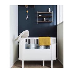 Beautiful Blue Rooms with Mustard Accents – Petit & Small - Babyzimmer Baby Bedroom, Baby Boy Rooms, Baby Room Decor, Nursery Room, Girl Nursery, Kids Bedroom, Nursery Decor, Kids Rooms, Nursery Themes