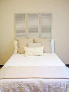 Looking to make a bold impact with your bedroom decor? We showed you unusual items to use as nightstands last week, but the sides of your bed aren't the only place you can make a visual statement in your bedroom. Why not show off your personality with an unusual headboard, too? We've got 12 fun ideas you could DIY today.