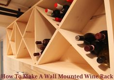 DIY wine rack. I want a full wall like this in the dining room.