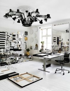 This is tenka gammelgaard's studio..that light!!!!