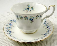Royal Albert Memory Lane Tea Cup and Saucer, Vintage Bone China, Made in England