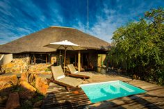 Umzolozolo Lodge is located in the Big 5 Private Game Lodge in Nambiti Game Reserve,KZN. It is luxury accommodation ideal for a romantic weekend away. Lodge Wedding, Wedding Venues, Romantic Weekends Away, Private Safari, Game Lodge, Private Games, Big 5, Game Reserve, Luxury Accommodation