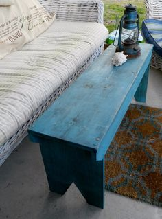 Primitive Wood Bench by grandaddyswoodmill on Etsy, $60.00