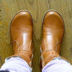 Green Comfort boots / via bybjor.