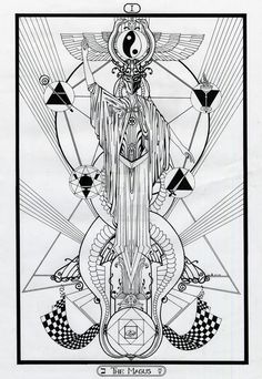 I - The Magus / The Magician - Tarot - Original by InaAuderieth.deviantart.com on @DeviantArt