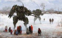 La storica Polonia dei robot giganti giapponesi #arte #storia #pittura #mecha #guerra