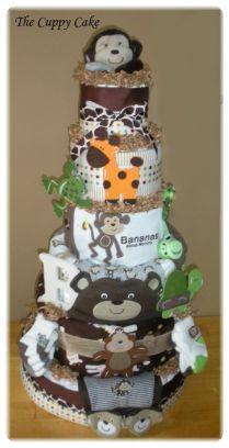 Safari Baby shower DIAPER CAKE! The Cuppy Cake Creative Designs - Home