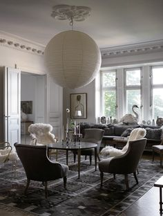 In Mats Gustafson's Stockholm living room, antique and modern mingle freely. Photographs by Magnus Marding. Styled by Jacob Hertzell.