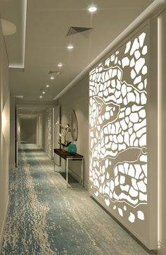 Laser cut screens Guest Corridor