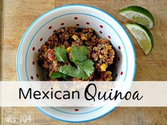 Mexican Quinoa - you'll love this!  http://a-life-from-scratch.com/mexican-quinoa/