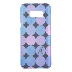 Blue Purple & Pink Circles Monogram Uncommon Samsung Galaxy S8 Case - monogram gifts unique design style monogrammed diy cyo customize