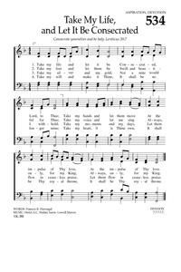 Take My Life, and Let It Be - Hymnary.org