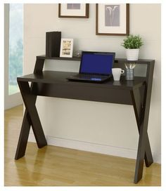 Writing Desk Home Office Laptop Computer Furniture Workstation X Leg Cappuccino #FurnitureofAmerica