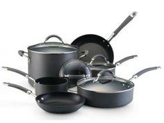 KitchenAid 10-Piece Kitchen Hard-Anodized Cookware Set Nonstick Pots Pans Stuart Park - Click Flick | Free Ad Classifieds