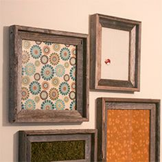 Framed Fabric Wall Art using different sized frames