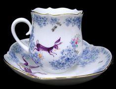 ユーロクラシクス|マイセン サマーナイトドリーム Coffee Set, Coffee Cups, Antique Tea Cups, Porcelain Mugs, Chocolate Pots, Tea Sets, Tea Cup Saucer, Vintage Tea, Ottomans