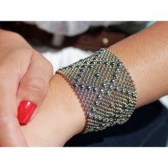 Liquid Metal // Mesh Cuff Bracelet