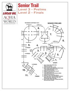 Senior trail prelims pattern for the 2015 Lucas Oil AQHA World Championship Show