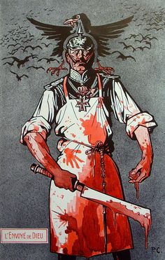 "Propaganda ""Scourge of God"" Wilhelm II Envoye de Dieu Chatillon Wilhelm II German Kaiser 1859 1941 LEnvoye de Dieu God s Envoy Ww1 Posters, Ww2 Propaganda Posters, Political Posters, World War One, Weird World, Old World, Poster Pictures, Art Graphique, Vintage Posters"