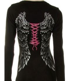 I like the idea of wings on a t-shirt.