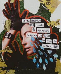 [survivor de destiny's child suena de fondo] Self Love Quotes, Mood Quotes, Art Quotes, Life Quotes, Inspirational Quotes, Collage Design, Collage Art, Collages, Quote Collage
