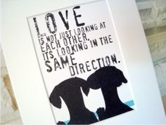Dachshund Love Dog Art Print Inspirational Series by GoingPlaces2, $14.00