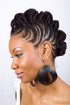I thought about getting my hair done like this....I don't think my forehead would have agreed, but I like the style.