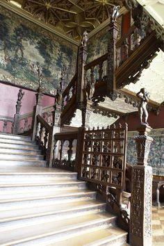 The Grand Staircase at Hatfield House, UK