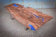 Elm Coffee Table With Resin Detail