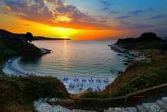 Zonsondergang Pipitos Beach in Kassiopi Corfu Island, Greek Islands, Mythology, Sunrise, Journey, Europe, River, Architecture, Beach