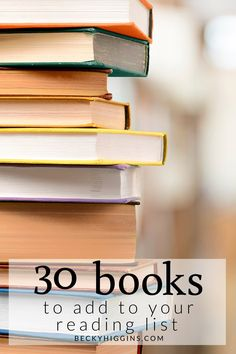 Tons of great books to add to your reading list!!
