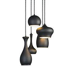 Hanglamp Drops 5 zwart - 91031