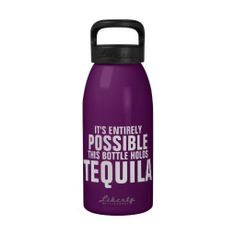 There's a chance this could be vodka reusable water bottles. A hilarious way to carry your water. Aluminum Water Bottles, Reusable Water Bottles, Sport Fashion, Fitness Fashion, Funny Water Bottle, Love Is In The Air, Partying Hard, Sporty Style, Look At You