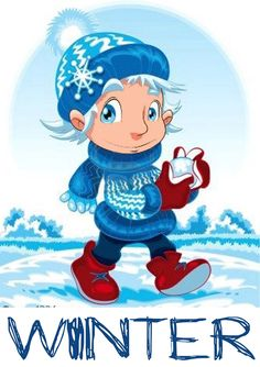 ARRIBA L'HIVERN Weather For Kids, Time And Weather, Weather Seasons, Art D'ours, Winter Illustration, English Activities, Kindergarten Class, Teaching Aids, Seasons Of The Year