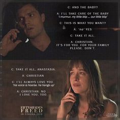 """1,614 Likes, 73 Comments - Fifty Shades... ❤ (@fiftyshadesag) on Instagram: """"""""Hi,"""" I murmur, trying in vain to steady my nerves. """"You're leaving me?"""" Christian's words are an…"""""""