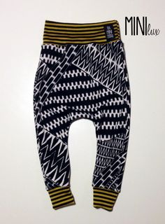 MINIlux Seymour Stripes Harems with Gold and by theMINIclassy, $25.00