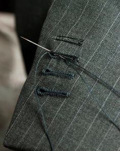 "While researching about bespoke menswear tailoring to be interoperated in womenswear collection ,this photograph in particular represents the amount of precision , time, patience and attention to detail that goes into the construction of a single piece. Now I know ""If its expensive , Its expensive for a reason""   AMEN!!!!"