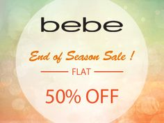 Bebe End of Season Sale!   Flat 50% off at Majorbrands