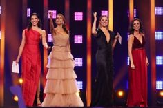 Daniela Ruah, Catarina Furtado, Silvia Alberto, Filomena Cautela host at Eurovision 2018: Rehearsal of 2nd semifinal #DanielaRuah #CatarinaFurtado #SilviaAlberto #FilomenaCautela #Eurovision