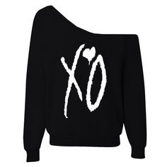 XO The Weeknd Womens Oversized Wideneck Slouchy by OppulentDesign