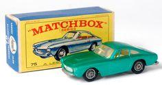 Lot 2314 - Matchbox, 75B Ferrari Berlinetta, metallic green body, silver baseplate with wire wheels, white