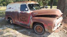 56 Ford Truck, Day Van, Vintage Trucks, Buses, Antique Cars, Vans, Delivery, American, Pickup Trucks
