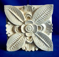 Carved Limestone Wall Plaque