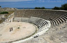 Explore the ancient Salamis Theater in Cyprus